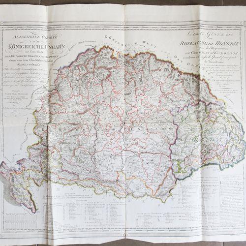 """HONGRIE """"CARTE générale du Royaume de Hongrie avec les Royaumes de CROATIE et d'…"""