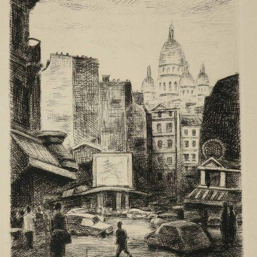 LOTIRON Robert (Paris 1886 Rueil Malmaison 1966) [Vue de Paris, le Sacré Coeur].…