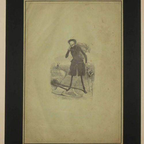 """LANTERNE MAGIQUE. XIXème. Gravure sur bois par BRUGNOT, d'après GAVARNI. Pour """"L…"""