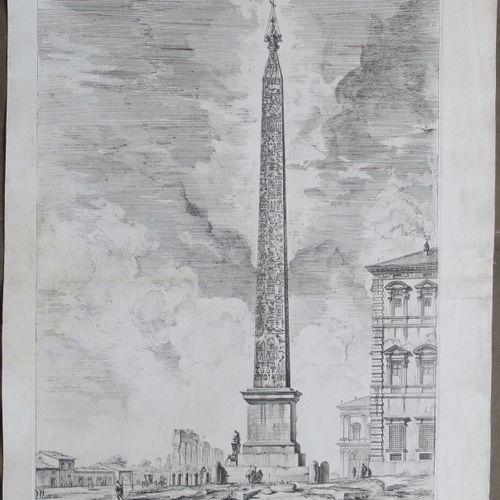 "PIRANESI Giovanni Battista (Mogliano Veneto 1720 1778 Venise) ""Obelisco Egizio"".…"