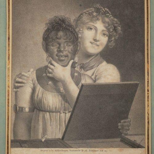 "MECOU André Joseph (Grenoble 1771 Paris 1837) ""Mirate che bel visino"". C.1804. G…"