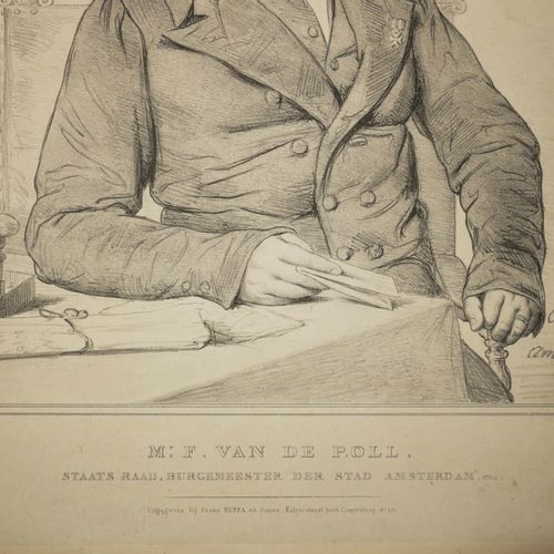 "CALAMATTA Luigi (Italie 1801 1869) (D'après) PORTRAIT de ""Mr F. Van DE POLL, Sta…"