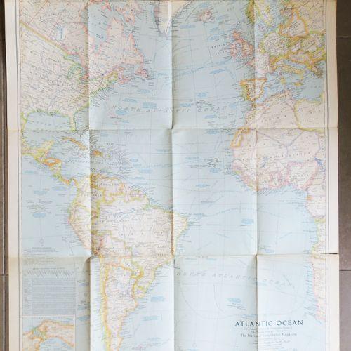 "CARTE de L'OCÉAN ATLANTIQUE ""Atlantic Ocean, Compiled and drawn in the Cartograp…"