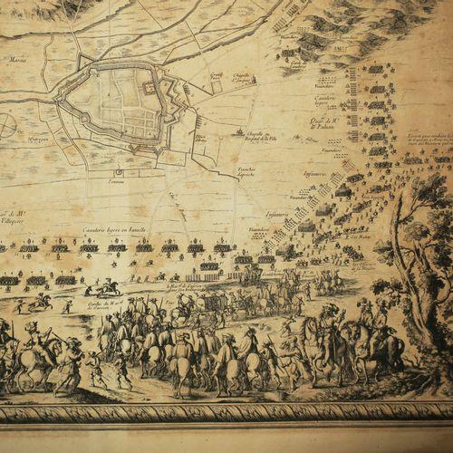 """PAS DE CALAIS (62) """"PLAN de la Ville de LENS en ARTOIS assiégée par l'Armée du R…"""