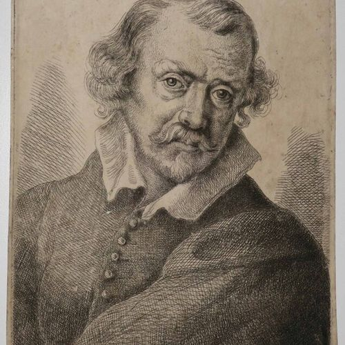 """WORLIDGE Thomas (Peterborough 1700 Londres 1766) """"Portrait de Pietro da Cortona""""…"""