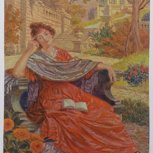 GRASSET Eugène (Lausanne 1845 Sceaux 1917) (D'après) [Femme assise sur un banc d…