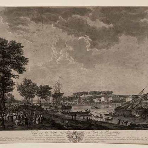 VERNET Joseph (1714 1789) (d'après) 2 PORTS DE VERNET (Vues de la ville et du po…