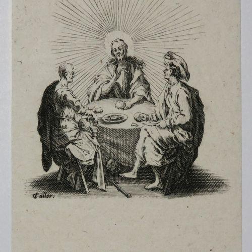 """CALLOT Jacques (Nancy 1592 1635) """"Les quatre Banquets"""". Suite complète de 4 eaux…"""