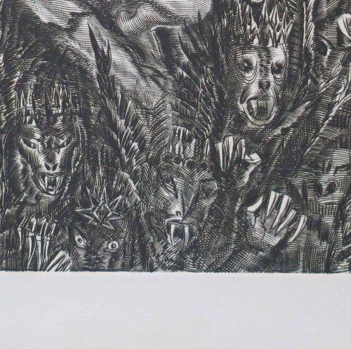 """DECARIS Albert (Sotteville les Rouen 1901 1988) """"L'Ange de l'abîme, Apocalypse"""".…"""