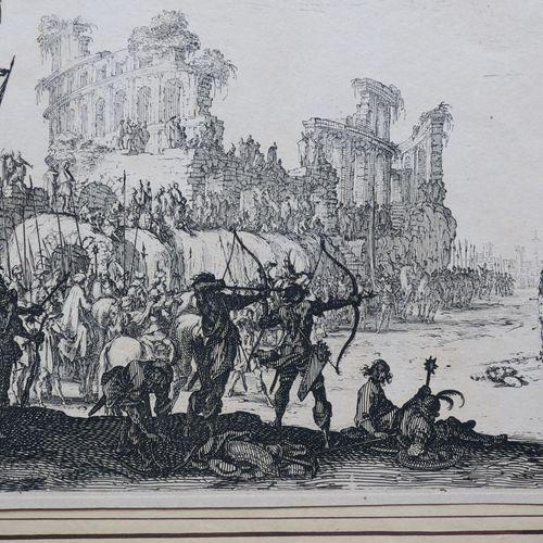 """CALLOT Jacques (Nancy 1592 1635) """"Le martyre de Saint Sébastien"""" 1632 1633. Eau …"""
