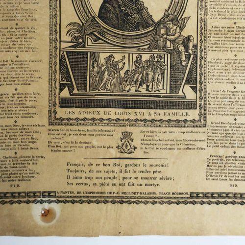 IMAGERIE DE NANTES PORTRAIT de LOUIS XVI, surnommé le Bienfaisant, Roi de France…