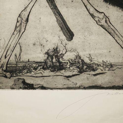 REPRÉSENTATION DE LA MORT. XX ème. Gravure à l'eau forte et à l'aquatinte, signé…