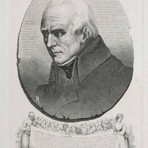POLOGNE PORTRAIT de STANISLAS STASZIC (1755 1826). XIXème. Gravé et imprimé sur …