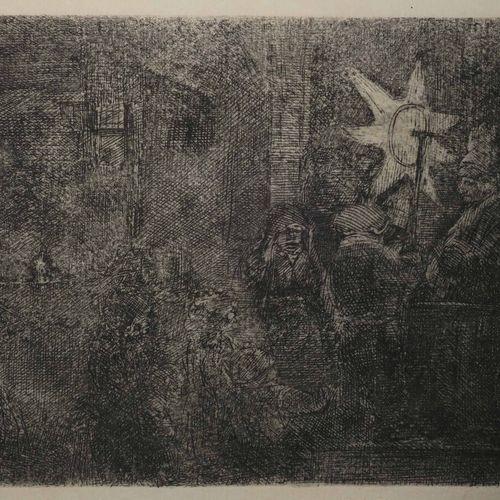 """REMBRANDT H. Van Rijn (Leyde 1606 Amsterdam 1669) """"L'Etoile des Rois"""" (The star …"""