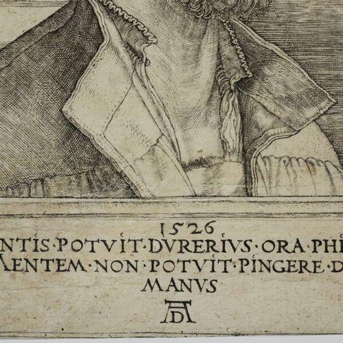 "DÜRER Albrecht (Nüremberg 1471 1528) ""Portrait de Philippe Mélanchton "". 1526. B…"