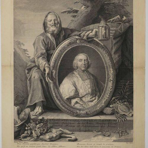 """RIGAUD Hyacinthe (Perpignan 1659 Paris 1743) (d'après) PORTRAIT de """"André Hercul…"""