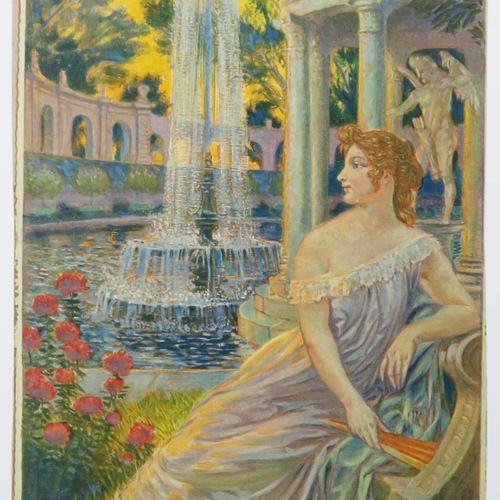 GRASSET Eugène (Lausanne 1845 Sceaux 1917) (D'après) [Femme à la fontaine]. Proc…