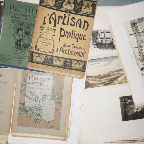 LOT d'environ 80 planches diverses DECORATION, PARIS, Thématique + 2 vol. Art et…