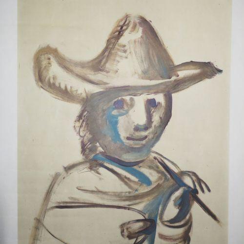 """PICASSO Pablo (1881 1973) (d'après) AFFICHE D'EXPOSITION """"XXVIIè Festival d'Avig…"""