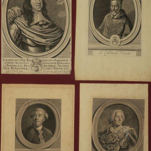 """PORTRAITS RIGAUD & autres Réunion de 13 planches 1 """"Lamoignon de Malesherbes"""", 1…"""