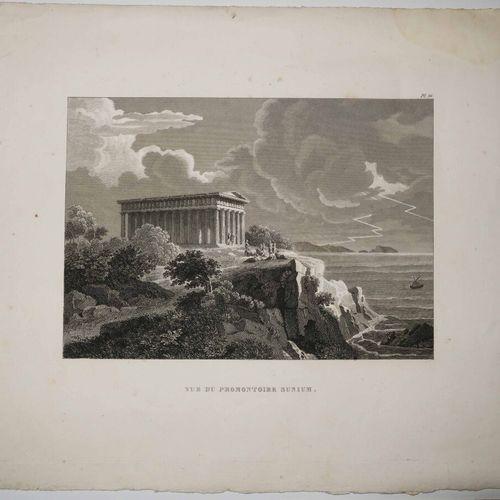 """GRECE 2 VUES D'ATHENES: """"Vue du Parthénon, Temple de Minerve à Athènes"""" & Vue du…"""