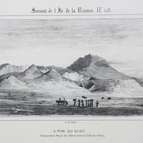 """LA REUNION A. ROUSSIN """"Le PITON DES NEIGES, Vue prise de la Plaine des Cafres (C…"""