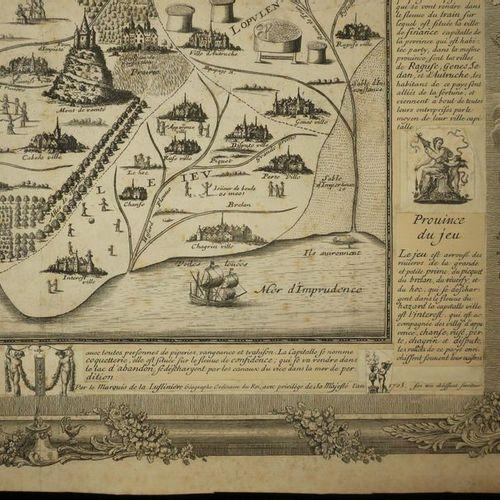 """CARTE CURIEUSE """"ROYAUME DE GALANTERIE"""", par le MARQUIS de LA LUSLINIER, Géograph…"""
