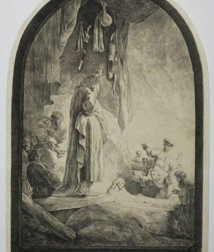"REMBRANDT Harmenszoon van Rijn (Leyde 1606 † Amsterdam 1669) ""La Résurrection de…"