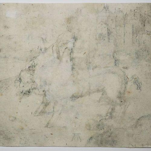 """DÜRER Albrecht (Nüremberg 1471 † 1528) """"Le Pourceau monstrueux de Landser"""". C.14…"""