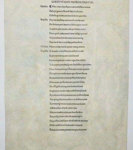 """DÜRER Albrecht (Nüremberg 1471 † 1528) """"Le Christ aux limbes"""", de la suite de 12…"""