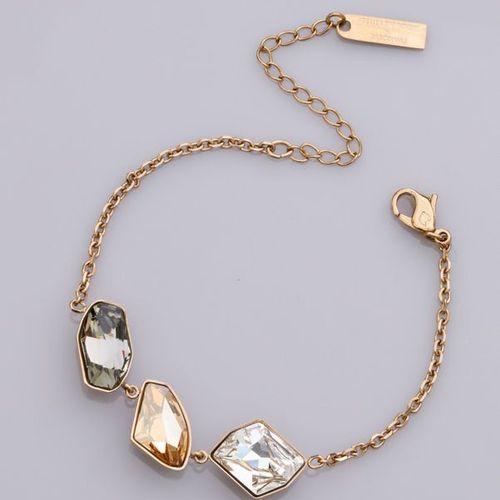 SWAROVSKI SWAROVSKI, Bracelet PRISMA en métal doré et cristaux de couleur, ateli…