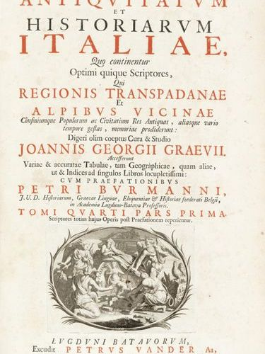 GRAEVIUS, Johann Georg (1632 1703) [COLLECTION OF TABLES FROM:] Thesaurus antiqu…