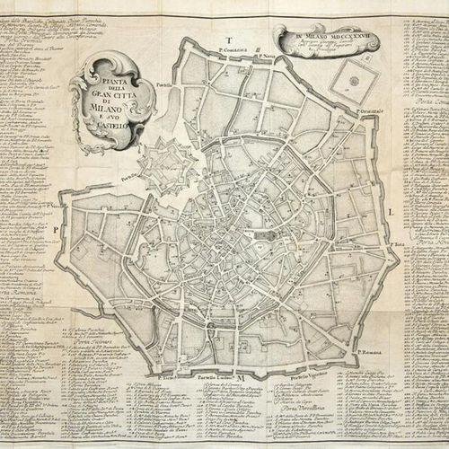 LATUADA, Serviliano (1704 1764) Descrizione di Milano ornata con molti disegni i…