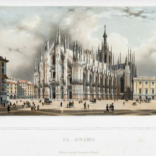 Milan and its territory. Milan: Luigi di Giacomo Pirola, 1844. A fine copy with …