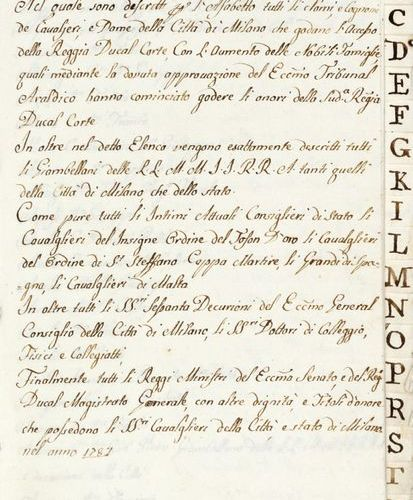Nobility] General list of knights and ladies of the city of Milan. Milan: 1787. …