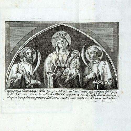 SASSI, Giuseppe Antonio (1675 1751) Historical news about the miraculous image a…