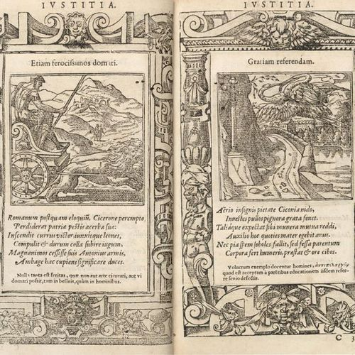 ALCIATO Andrea (1492 1550) Emblemata. Lyon: Rouille, 1566. A richly illustrated …