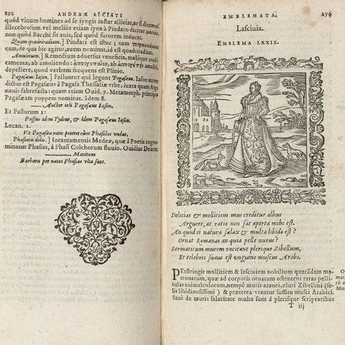 ALCIATO Andrea (1492 1550) Omnia emblemata [WITH:] MINOEM, Claudio. Notae poster…