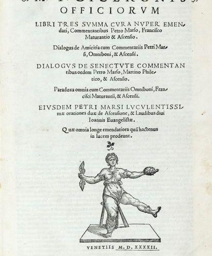CICERONE, Marco Tullio (106 B.C. 43 B.C.) Officiorum libri tres summa cura nuper…