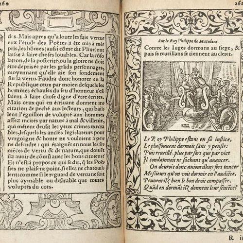 COUSTAU Pierre (XVI century) Le Pegme. Lyon: Barthelemy Molin, 1560. Second Fren…