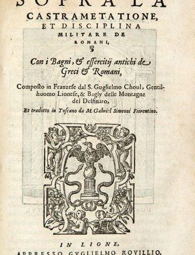 DU CHOUL, Guillaume (1496 ca. 1560) Discorso della Religione Antica de Romani, i…