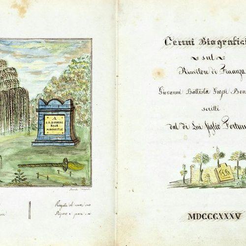 BONELLI Fortunato Cenni biografici sul ricevitore di Finanza Giovanni Battista G…