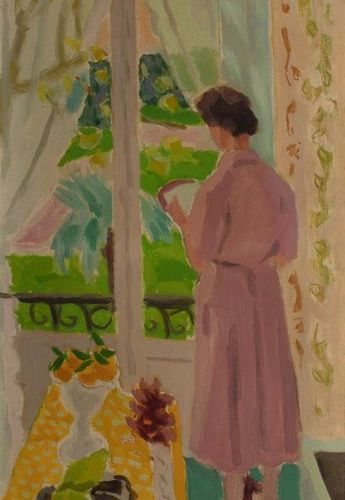Jules CAVAILLES (Carnaux 1901 Epineuil 1977) La robe rose, Cannes Oil on canvas …
