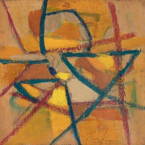 Bill PARKER (1922 2009) Composition abstraite Huile sur panneau signé en bas ver…