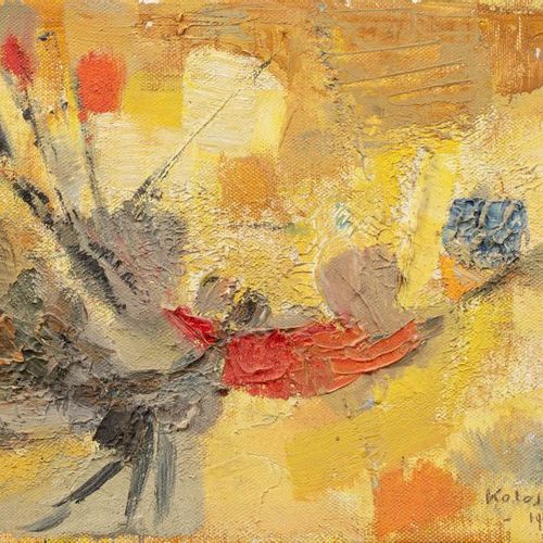 SIGISMOND KOLOS VARY (1899 1983) Composition, 1960 Oil on canvas signed and date…
