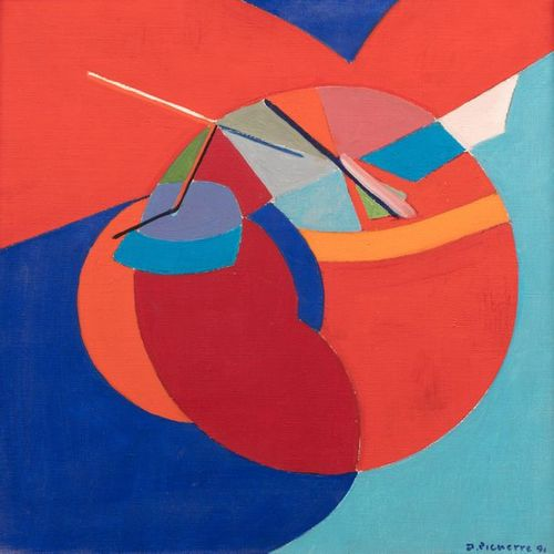James PICHETTE (1920 1996) Abstract composition, 1991 Oil on canvas signed and d…