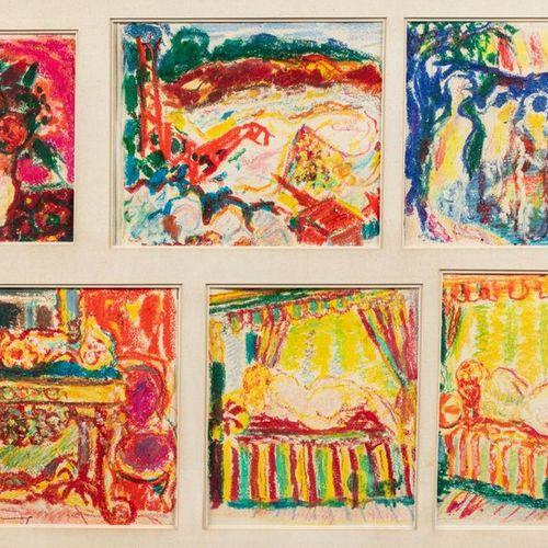 Roger MARCEL LIMOUSE (Collo 1894 1989) Compositions Paysage Paysage Table Nu fém…