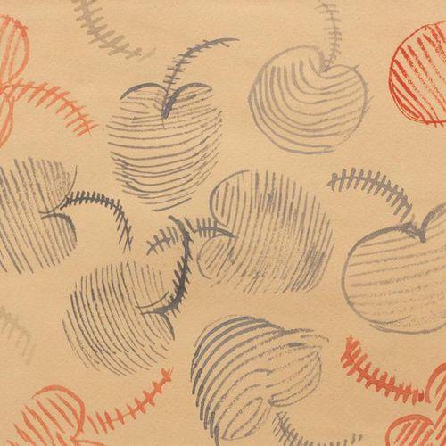 Sonia DELAUNAY (1885 1979) Projet de dessin de tissu Aquarelle sur papier 14,6 x…