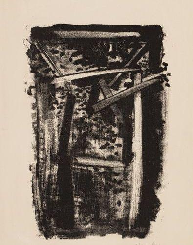 Olivier DEBRE (1920 1999) Signe, circa 1958 Lithographie en noir, épreuve signée…