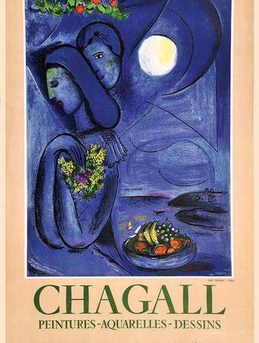 CHAGALL Marc Saint Jean Cap Ferrat Chagall Peintures Aquarelles Dessins Très Rar…